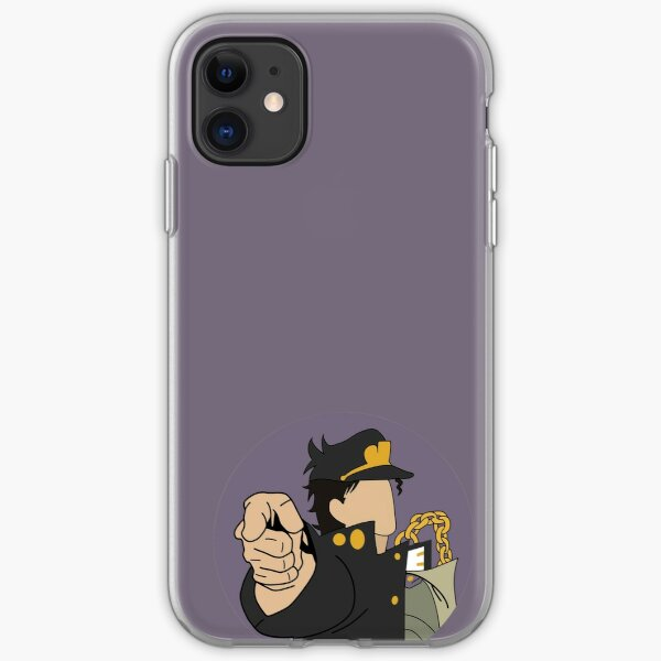 Jotaro Kujo Minimalist iPhone Soft Case