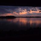 Dusk on the Mississippi by nealbarnett