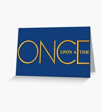 Once Upon A Time - logo Greeting Card