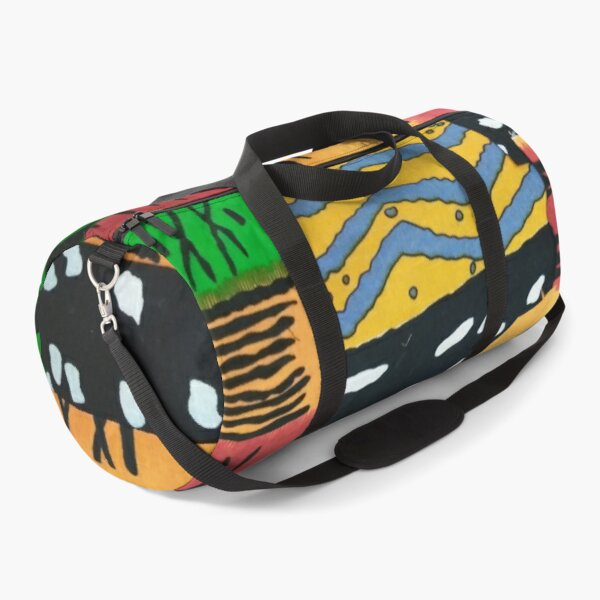 Patchwork of African Fabric Patterns Duffle Bag