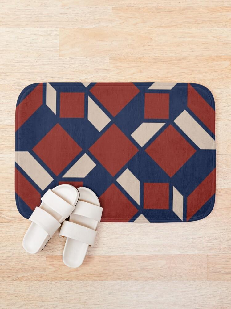 Alternate view of Moroccan pattern Bath Mat