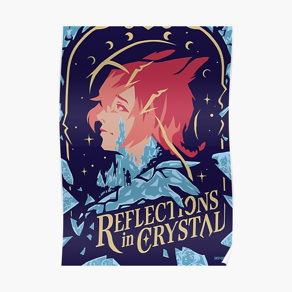 Reflections in Crystal Poster