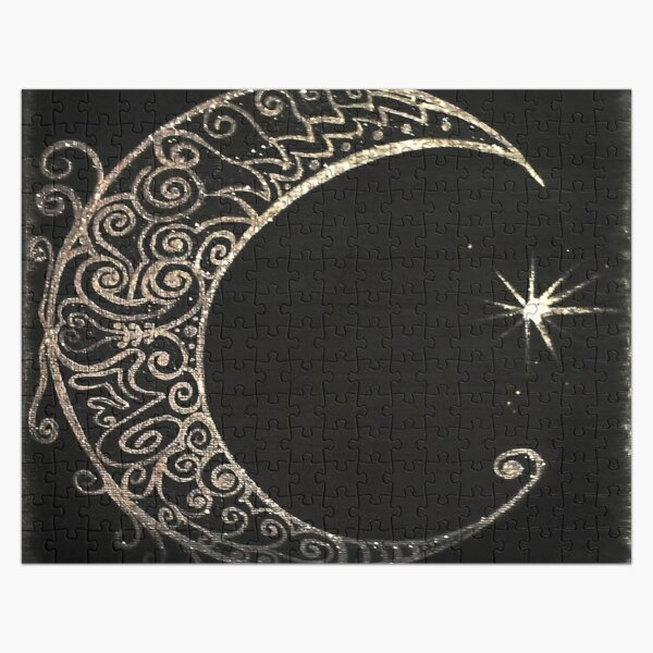 Silver Moon Jigsaw Puzzle