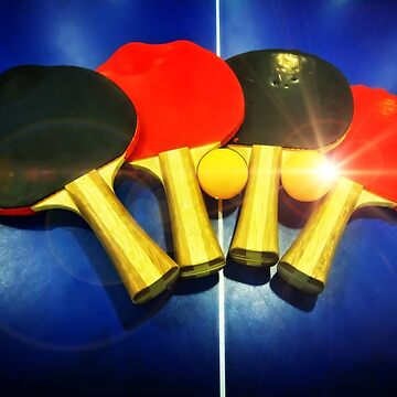 Lens Flare Pingpong Balls Bats Table Tennis Paddles Rackets by beverlyclaire