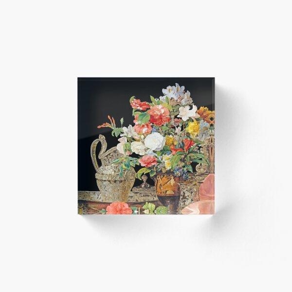Ferdinand Georg Waldmüller Antique Vase Acrylic Block