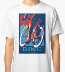 Retro styled motivational cycling poster: Bike Hard Classic T-Shirt