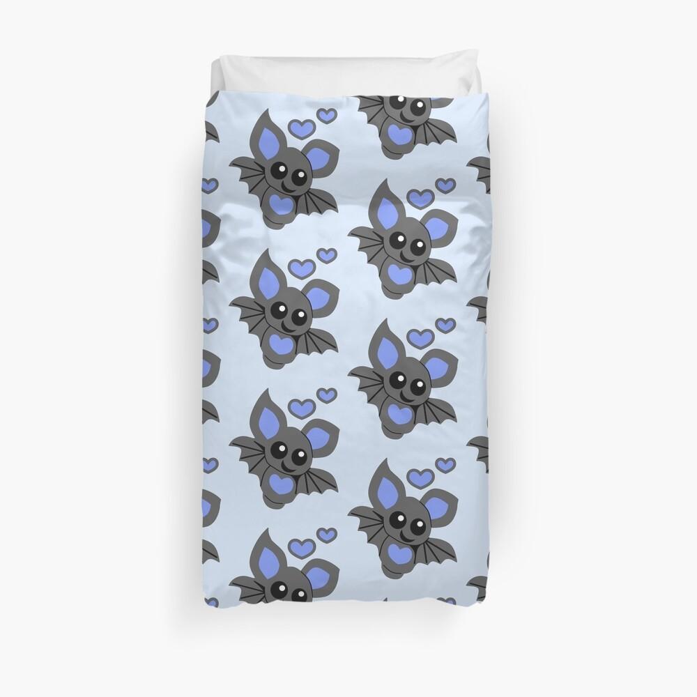 Cute Blue Baby Bat Duvet Cover