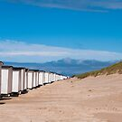 Bathing Huts on a Danish Beach by Michael Brewer