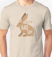 Verrückte Hase Dame Unisex T-Shirt