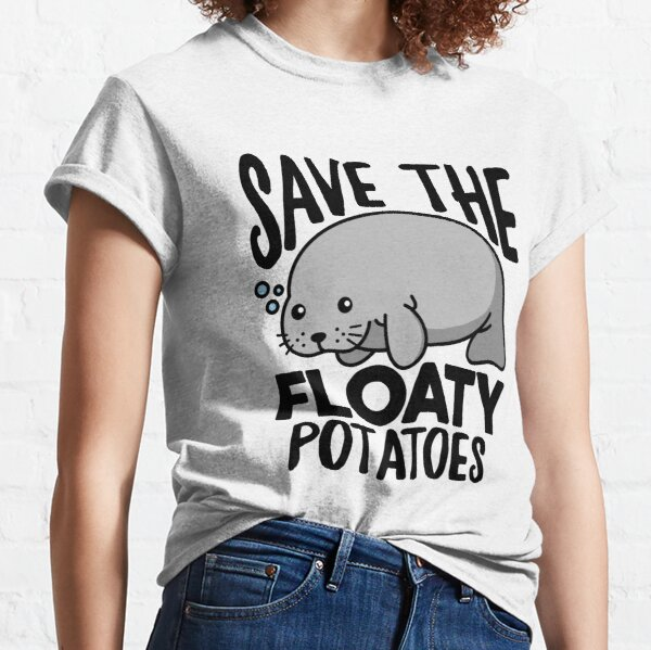 Save The Floaty Potatoes Funny Manatee Classic T-Shirt