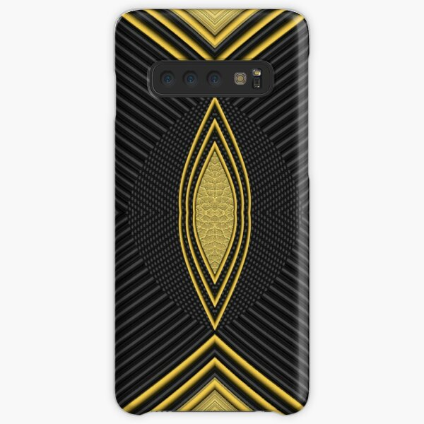 Golden Lines and Shape Samsung Galaxy Snap Case