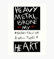 Lámina artística Fall Out Boy Centuries - Heavy Metal rompió mi corazón