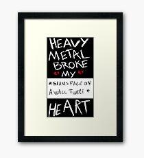 Fall Out Boy Centuries - Heavy Metal Broke My Heart Framed Print