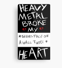 Fall Out Boy Centuries - Heavy Metal Broke My Heart Metal Print