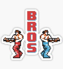8 Bit Contra Bros! Sticker