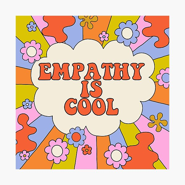 Empathy is Cool - The Peach Fuzz Photographic Print