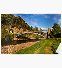 Craigellachie, Bridge in Autumn Poster