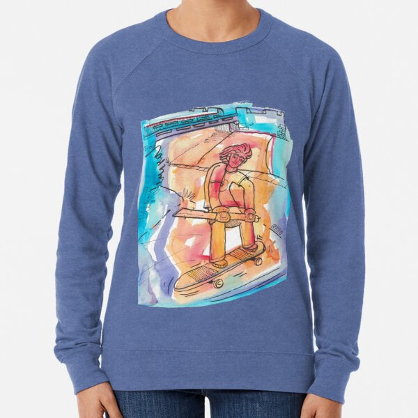 Skateboarder - No Background Lightweight Sweatshirt