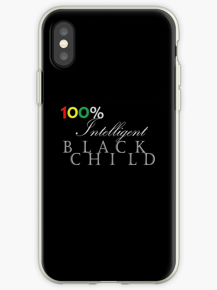 One Hundred Percent Intelligent Black Child (color on black) by Tiana Longmire