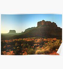 Morning sunlight on Sedona Arizona Poster
