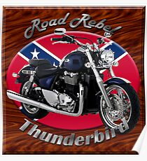 Triumph Thunderbird Road Rebel Poster