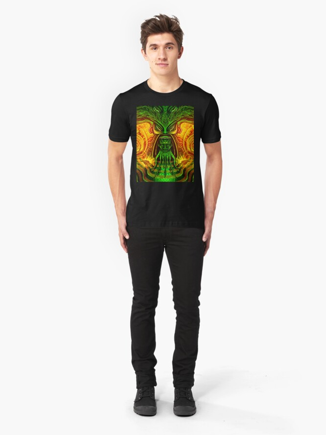Alternate view of Spinach Rolled Slim Fit T-Shirt