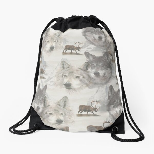 Canadian Wildlife Drawstring Bag