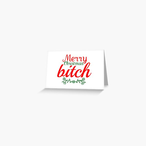 Frohe Weihnachten Hündin Grußkarte