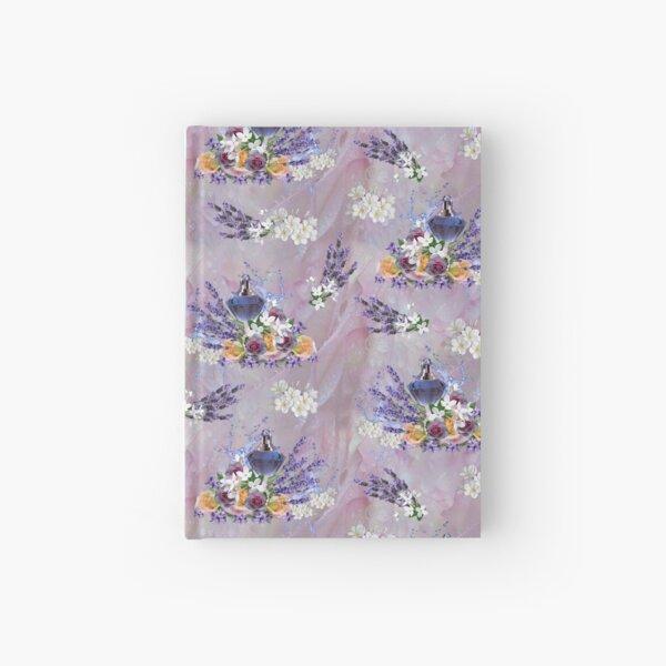 Tuberose & Lavender Blooms on Rose petals Hardcover Journal