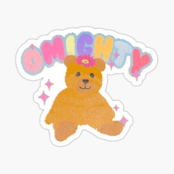 omighty teddy bear design Sticker