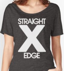 Straightedge (white) Women's Relaxed Fit T-Shirt