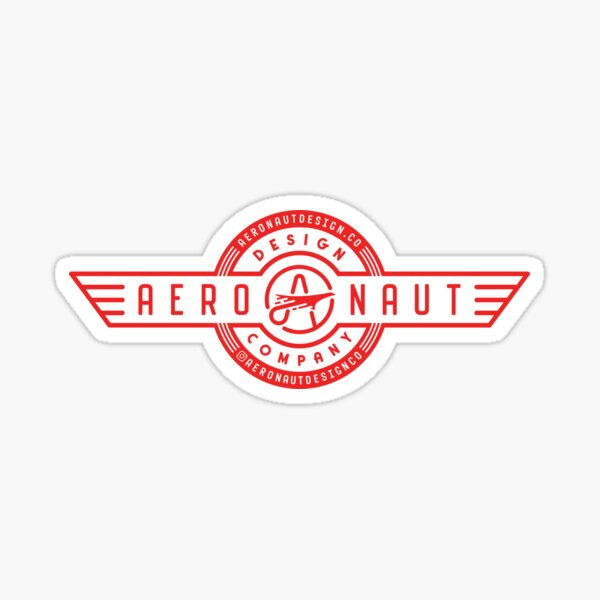 Aeronaut Design Co logo Sticker