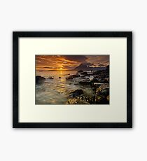 Waiting for sunset Framed Print