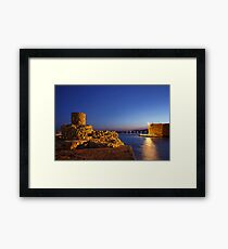 The old harbor of Ierapetra Framed Print
