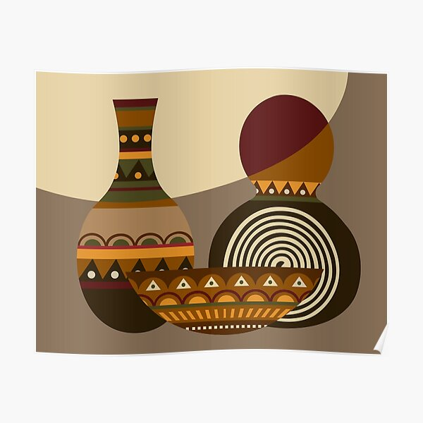African Gourd Poster