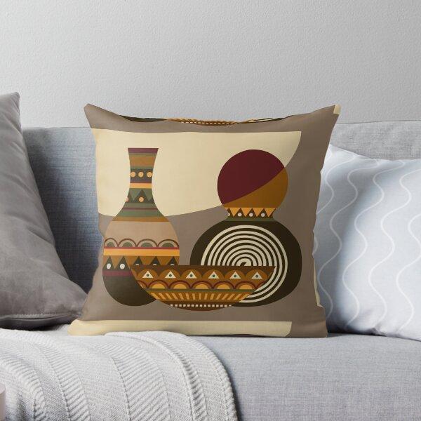 African Gourd Throw Pillow