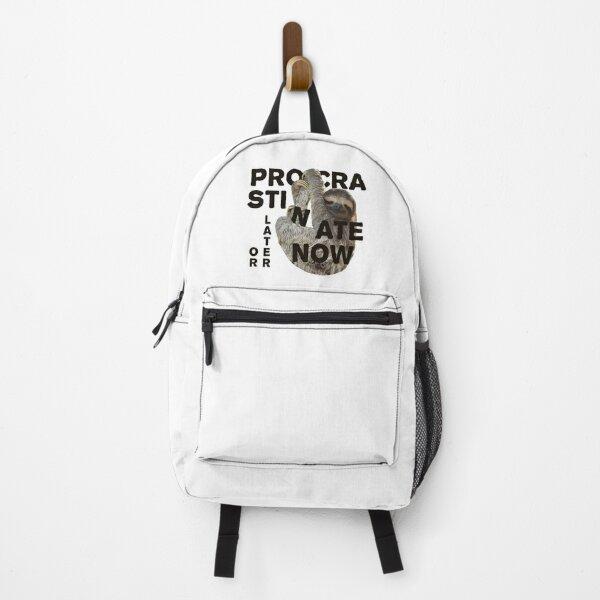 Procrastinate Now Backpack