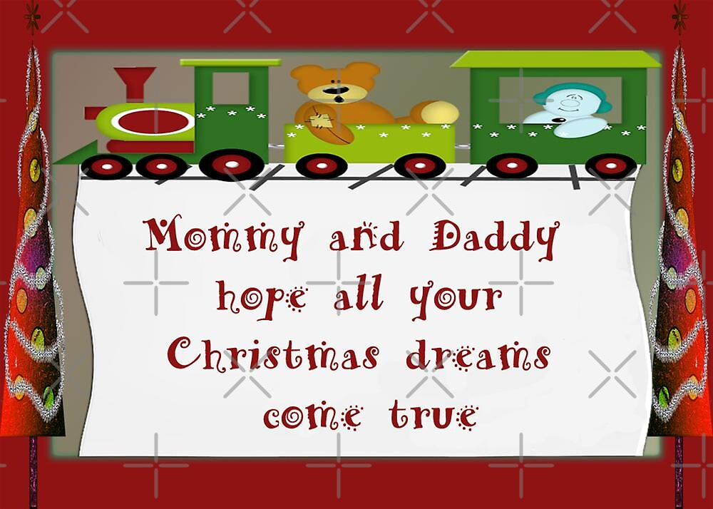 Christmas Greeting Card For Young Son by Vickie Emms
