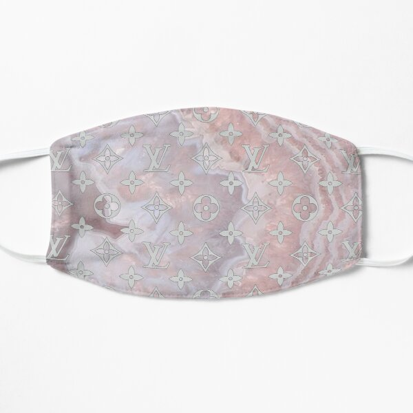 Louis V - Pastel pink marble Mask