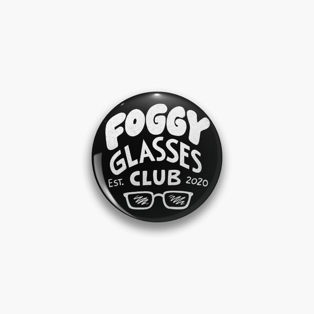 Foggy Glasses Club Pin