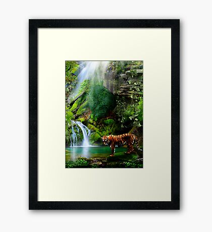 In The Jungle Framed Print