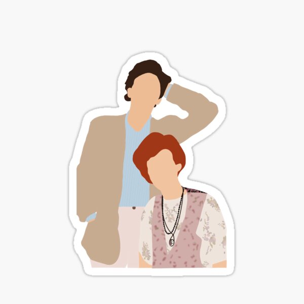 Pretty in Pink Andie and Blane Sticker