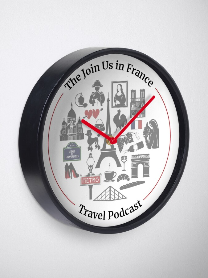 Alternate view of Join Us in France Logo Clock Clock
