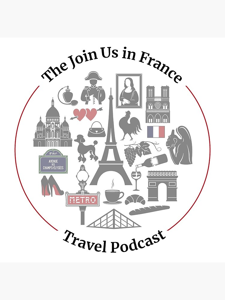 Join Us in France Logo Clock by joinusinfrance