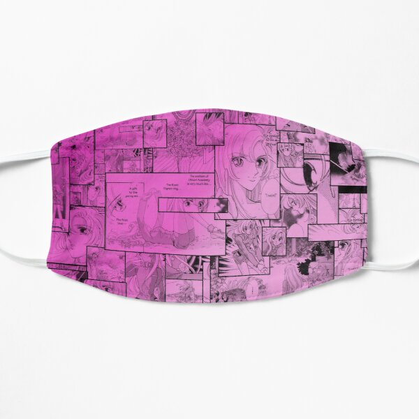RGU Utena Manga Collage design Flat Mask