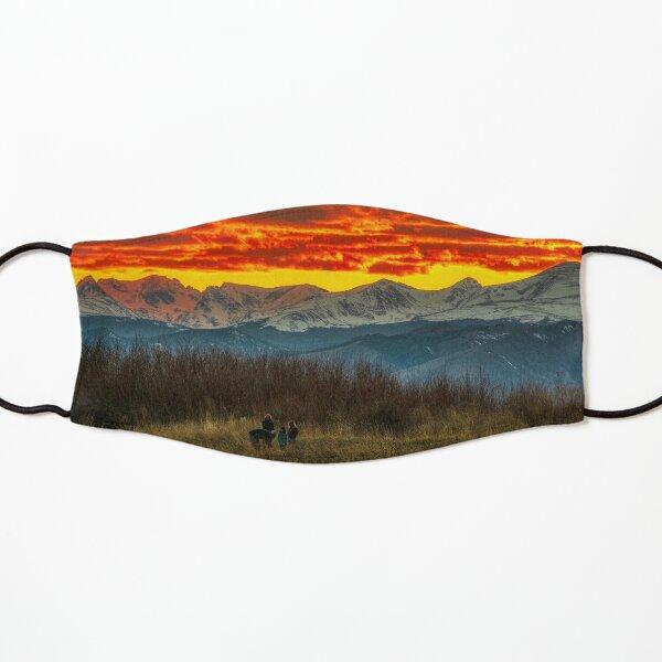 Indian Peaks Sunset Kids Mask