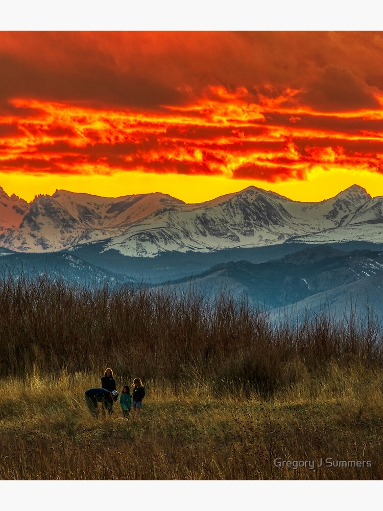 Indian Peaks Sunset by nikongreg