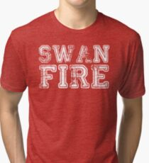 One Upon a Time - Swan Fire Tri-blend T-Shirt