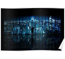 Window to Gotham City Poster