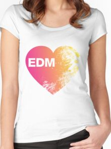 EDM Love Women's Fitted Scoop T-Shirt